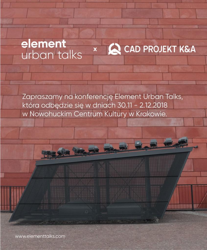 Urban Element Talks zaproszenie