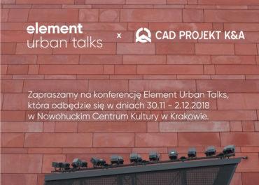 Element Urban Talks 2018 Kraków
