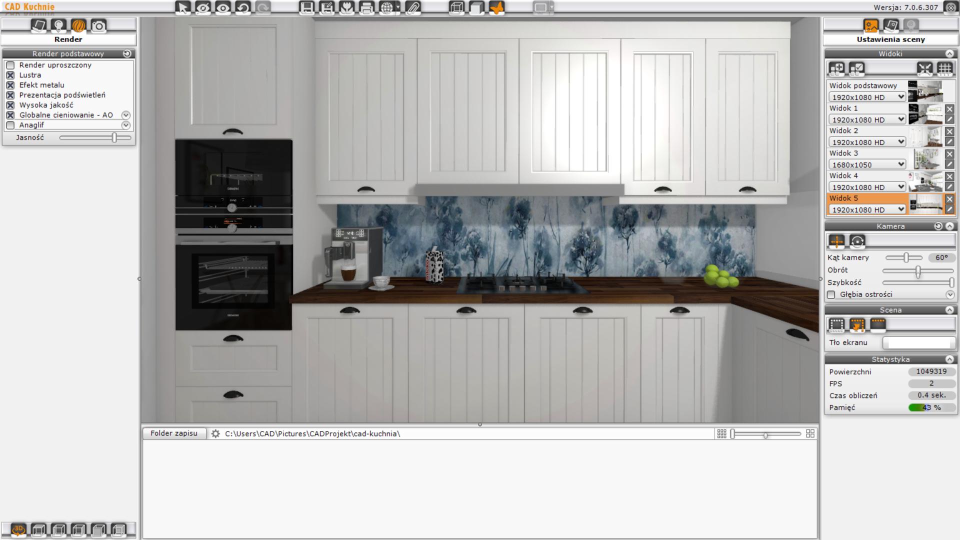 CAD Kuchnie przykładowa wizualizacja